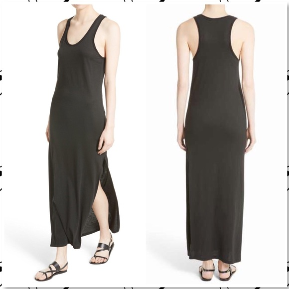 de9fafdd809 Theory Dresses | Sameetha Plume Jersey Tank Maxi Dress Black | Poshmark